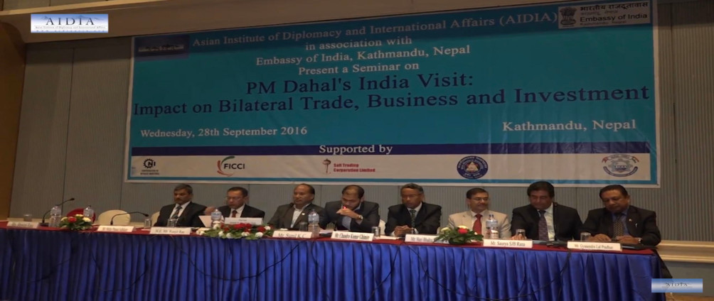 Seminar on PM Dahal India Visit: Impact on Bilateral trade, Business and Investment