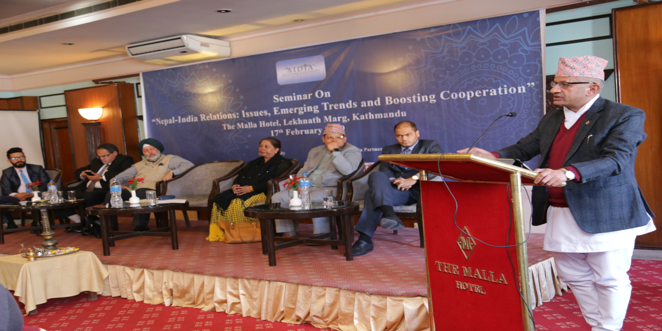 "Seminar on ""Nepal-India Relations: Issues, Emerging Trends and Boosting Cooperation"""