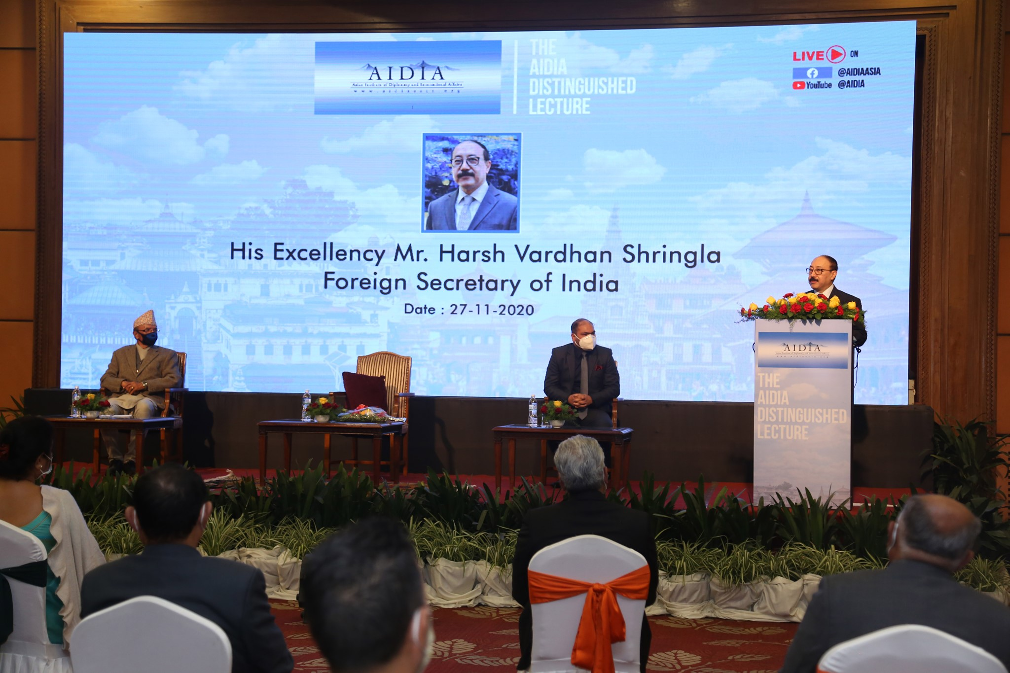 AIDIA Distinguished Lecture by H.E. Mr. Harsh Vardhan Shringla